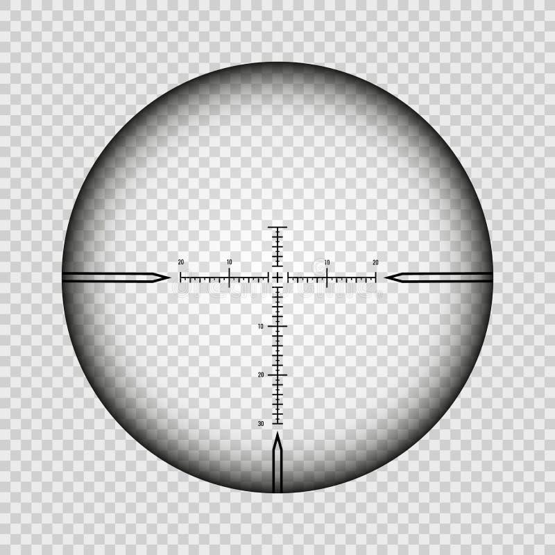 Croix de portée de tireur isolé illustration de vecteur
