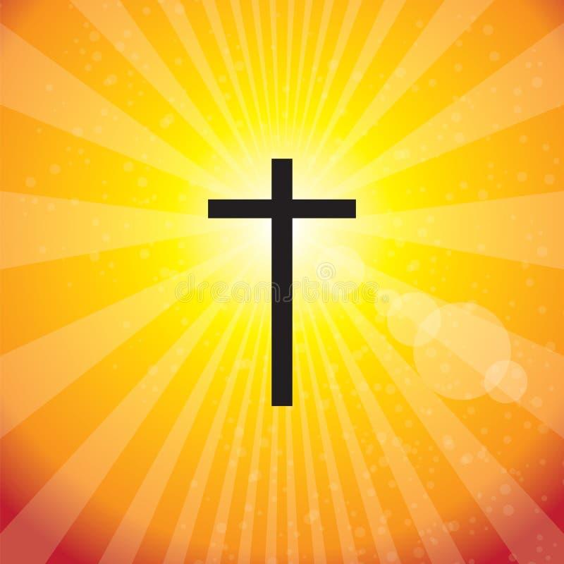 Croix de rayons illustration de vecteur