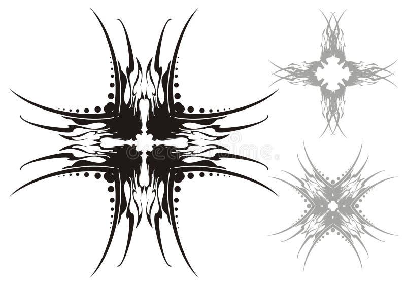 Croix de vecteur illustration stock