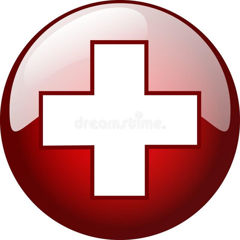 croix du bouton 3d photo libre de droits