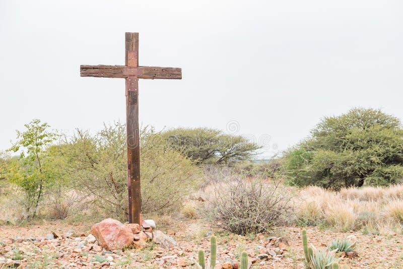 Croix en bois à l'entrée à Douglas images libres de droits