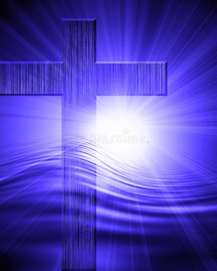 Croix en bois illustration de vecteur