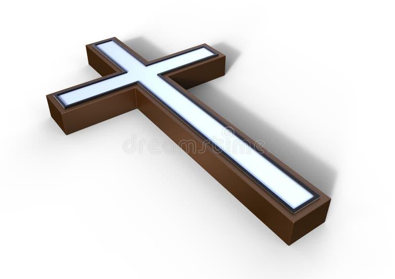 Croix en bronze illustration stock