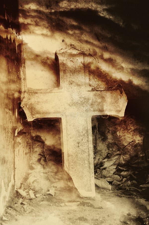 Croix en pierre image stock