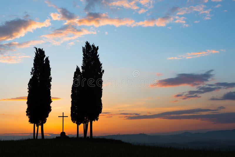 Croix en Toscane photo stock