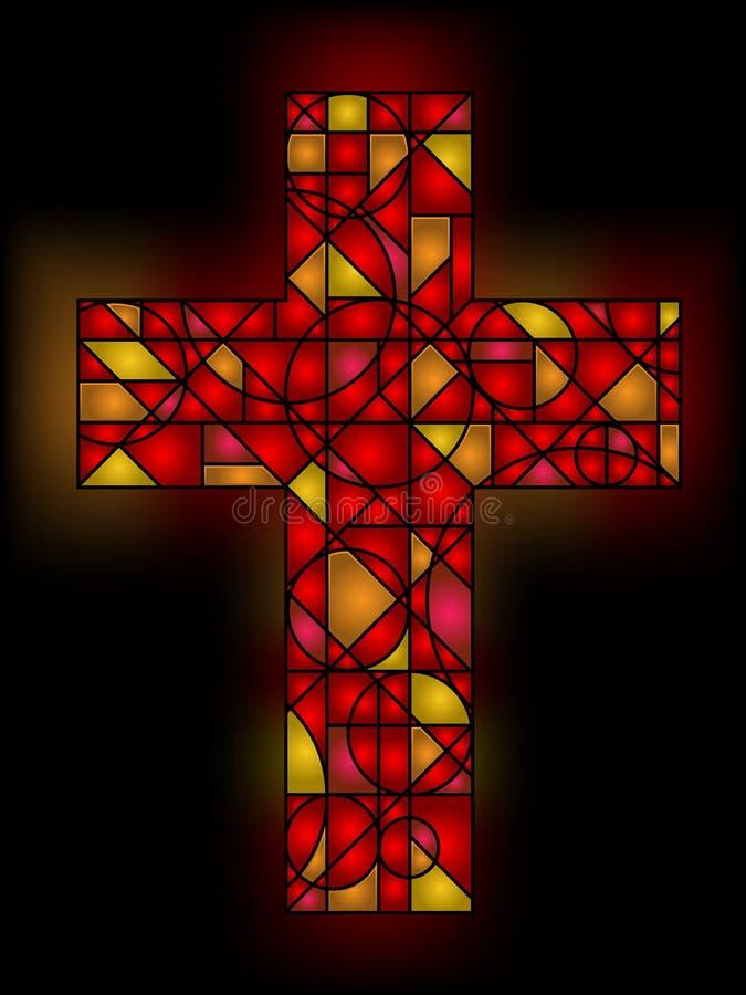 Croix en verre souillé illustration stock
