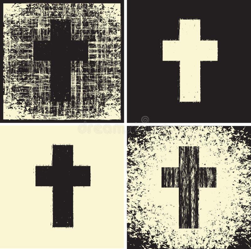 Croix et textures illustration stock
