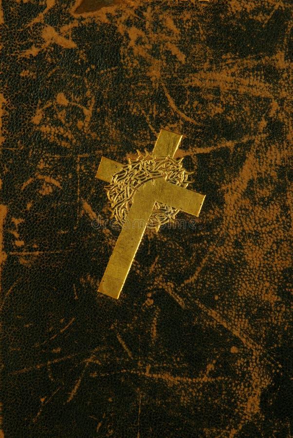 Croix fleurie d'or images libres de droits