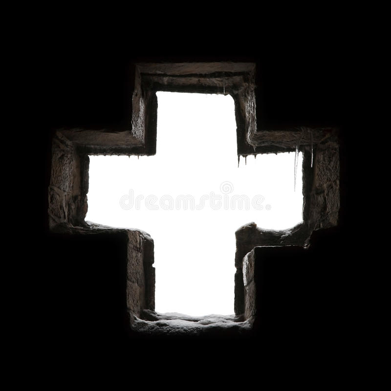 Croix gothique photographie stock