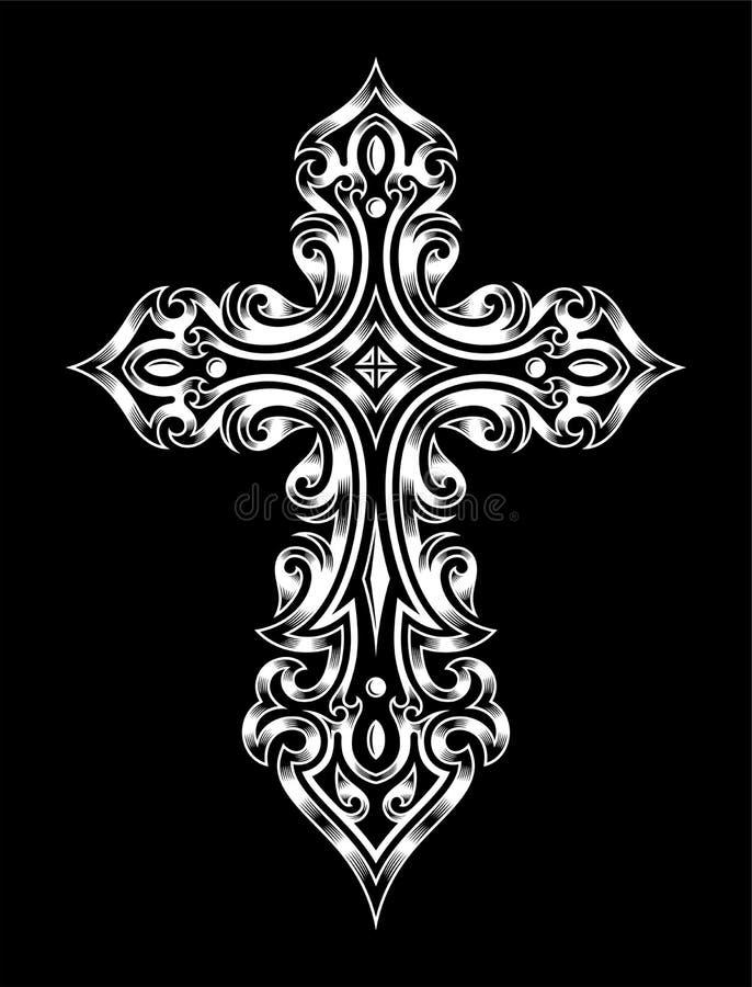 Croix gothique illustration libre de droits