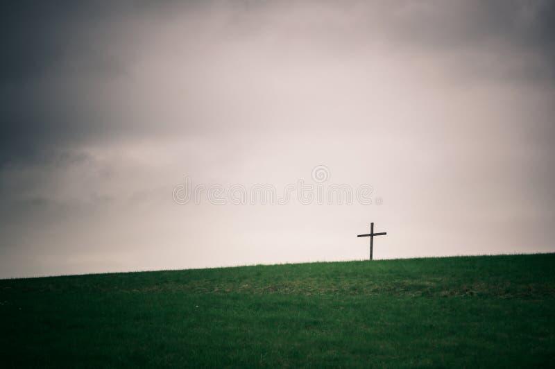 Croix isolée sur la série d'horizon photos libres de droits