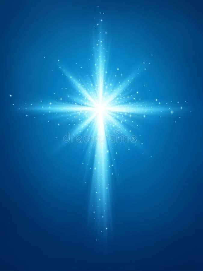 Croix lumineuse d'étoile illustration stock