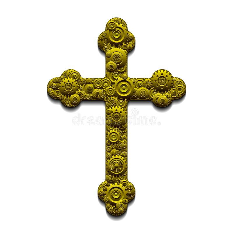 Croix mécanique illustration de vecteur