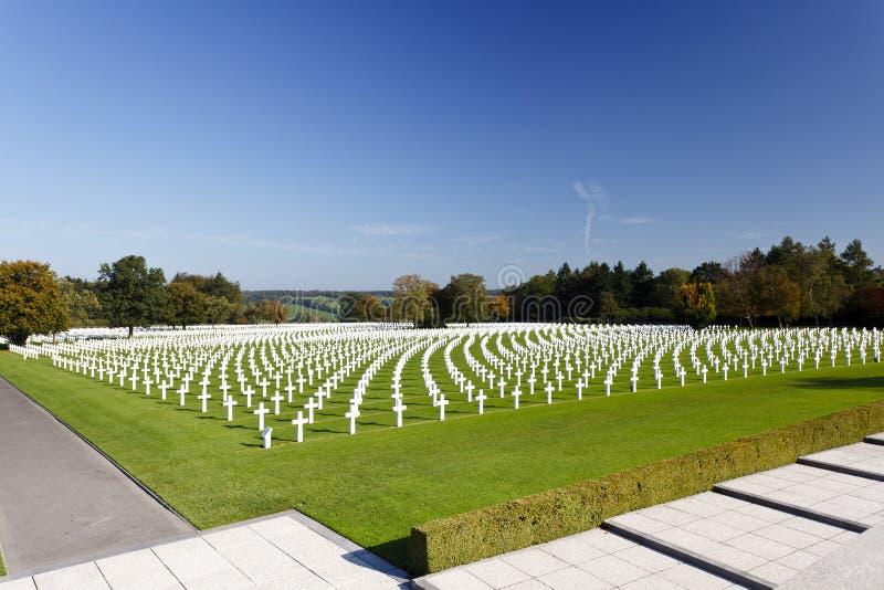 Croix militaires de cimetière, Belgique photos libres de droits