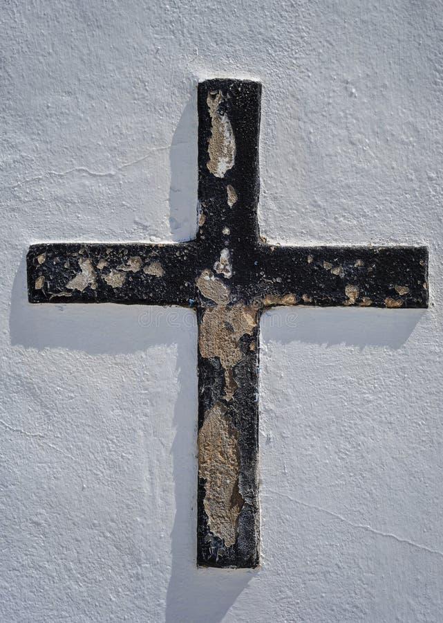 Croix noire image libre de droits
