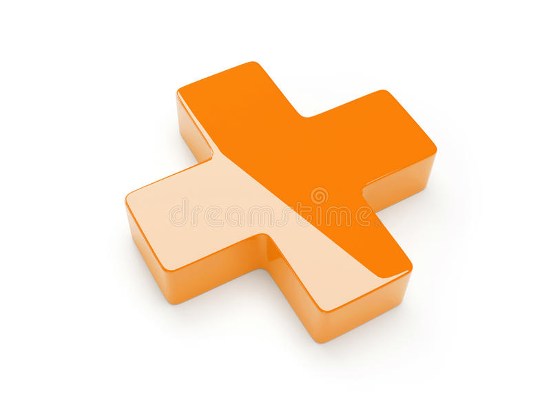 Croix orange illustration stock