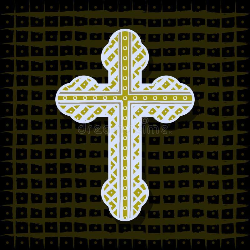 Croix orthodoxe - fond illustration de vecteur