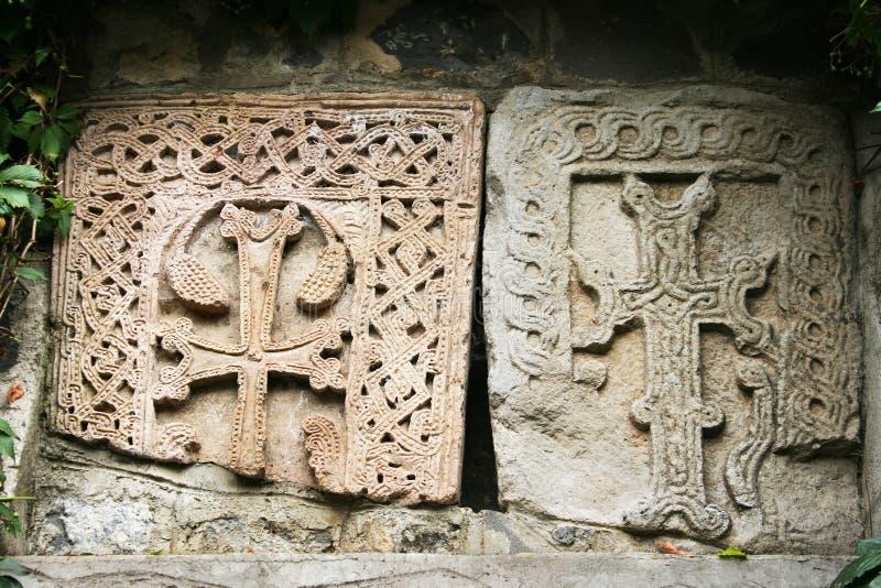 Khachkars ou croix-pierres photos libres de droits