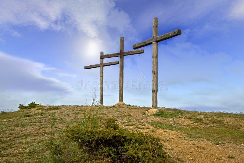 Croix pour un crucifix image libre de droits