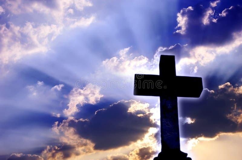 Croix religieuse photographie stock libre de droits