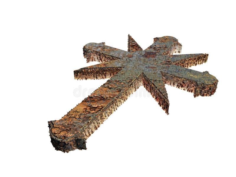 Croix rouillée illustration stock