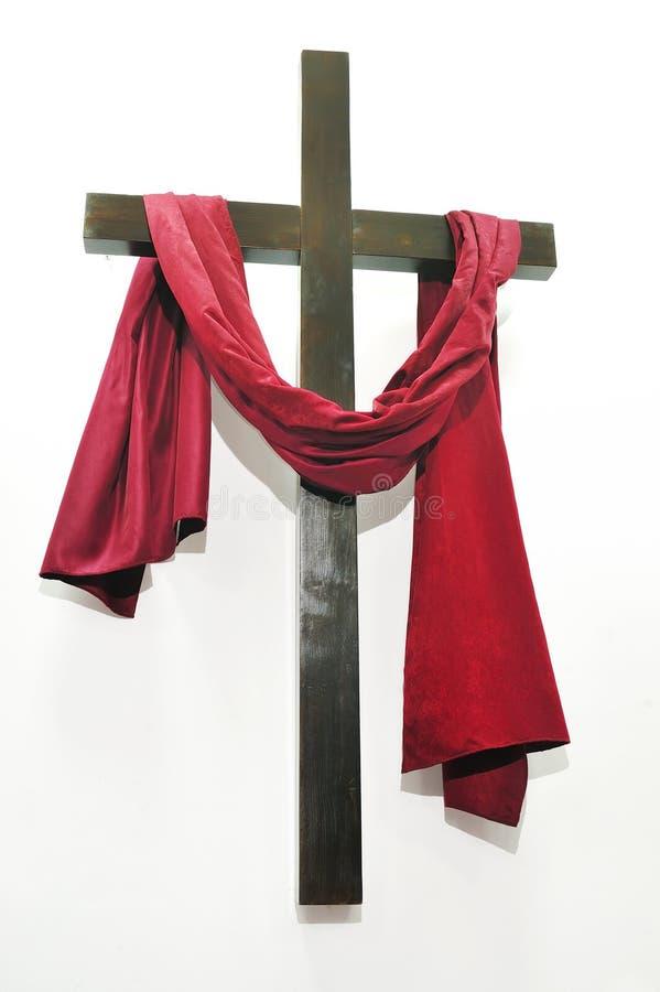 Croix sur le fond blanc image stock