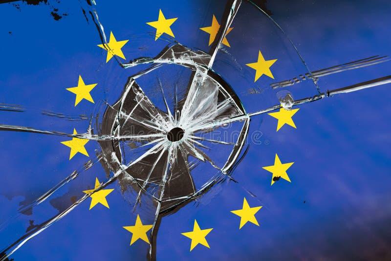 Crollo dell'Unione europea immagine stock libera da diritti
