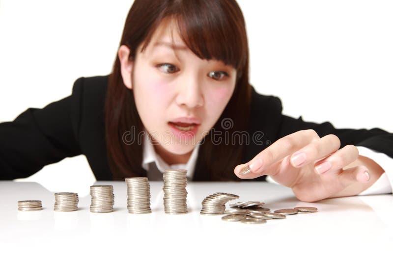Crollo finanziario immagini stock