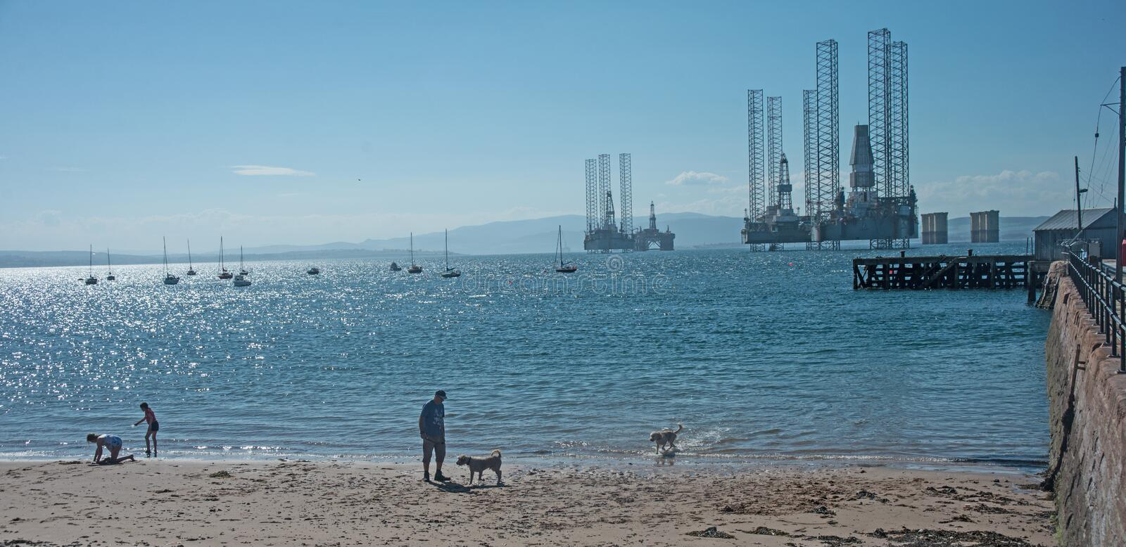 Download Cromarty Showing Yachts And Oil Rigs Stock Photo - Image of cromarty, ferry: 120259362