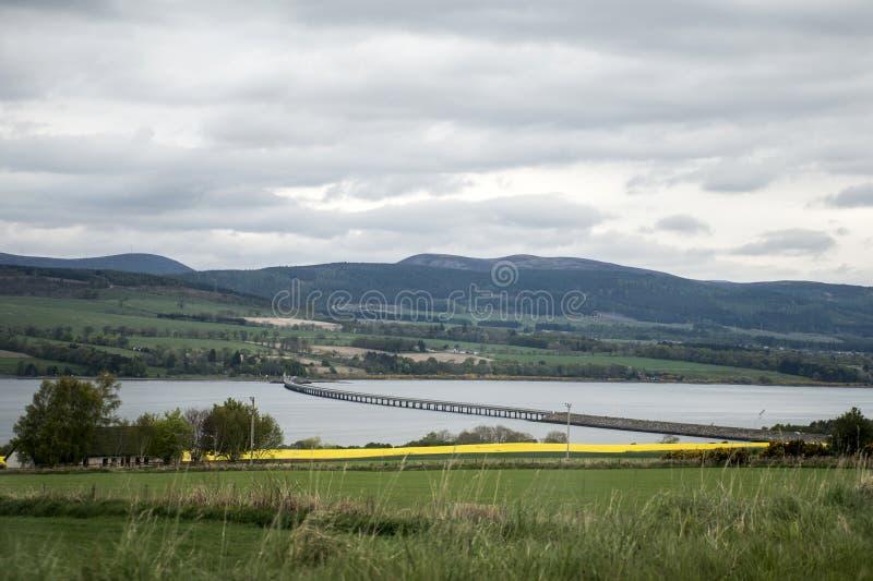 Cromartybrug dichtbij Inverness Schotland Dingwall stock afbeelding