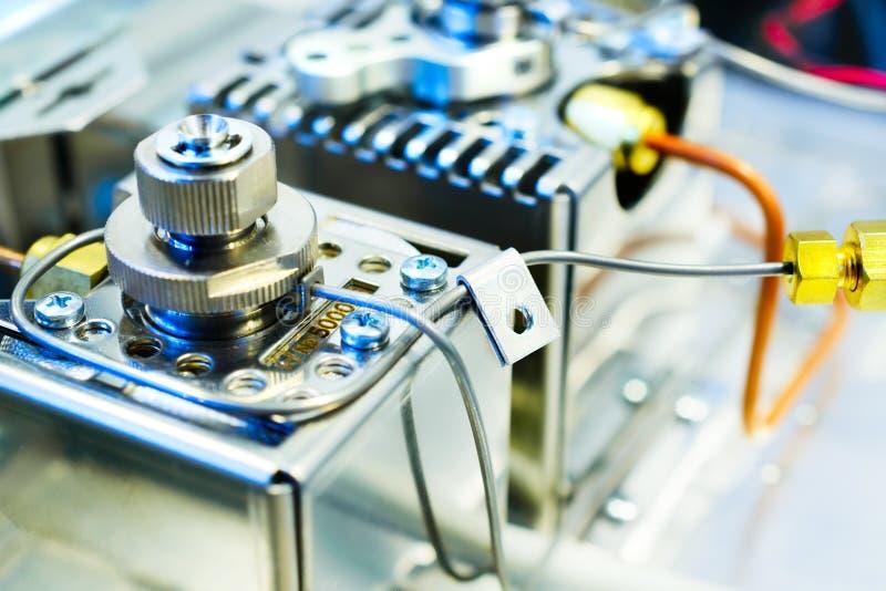 Cromatógrafo de gás do sensor Equipamento do produto químico do laboratório foto de stock