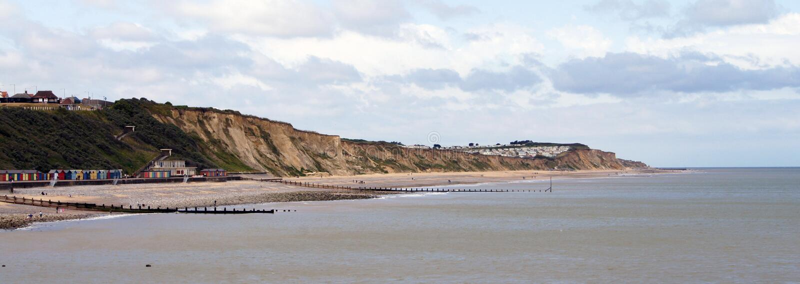 Cromer Küstenlinie Stockbilder