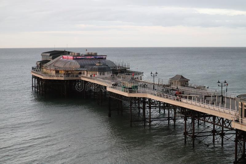 Cromer Pier from above. The grade 2 listed pier in Cromer, Norfolk stock images