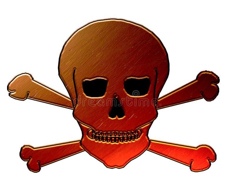 Cromi il cranio con le ossa trasversali illustrazione vettoriale