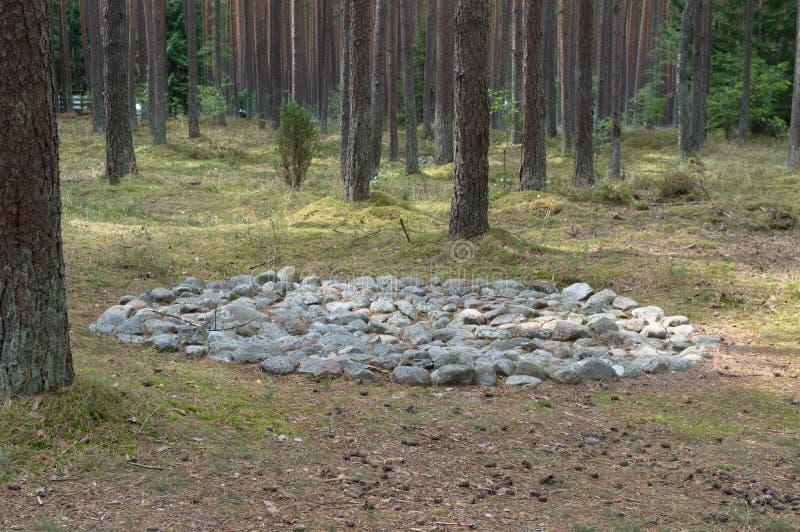 Cromlêh in steencirkel stock afbeeldingen