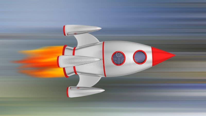 Cromo do míssil de Rocket ilustração royalty free