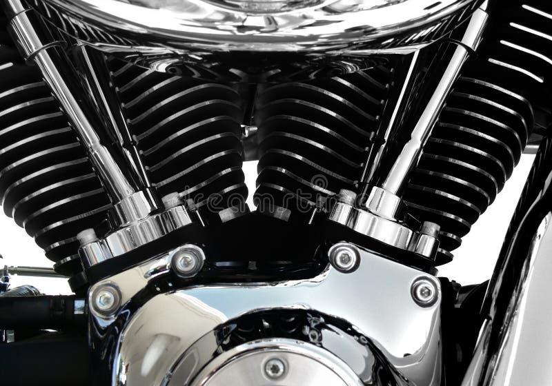 Cromo do motor da motocicleta fotografia de stock royalty free