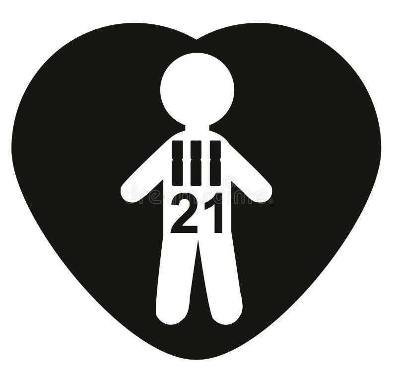 Cromosomas 21, trisomía 21, Síndrome de Down Concepto ilustración del vector