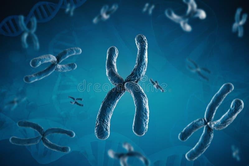 Cromossoma azul imagem de stock royalty free