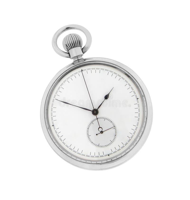 Cronómetro aislado en blanco imagen de archivo libre de regalías