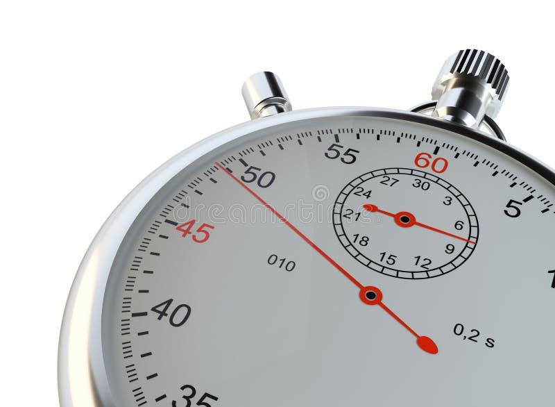 Cronómetro Aislado en blanco ilustración del vector