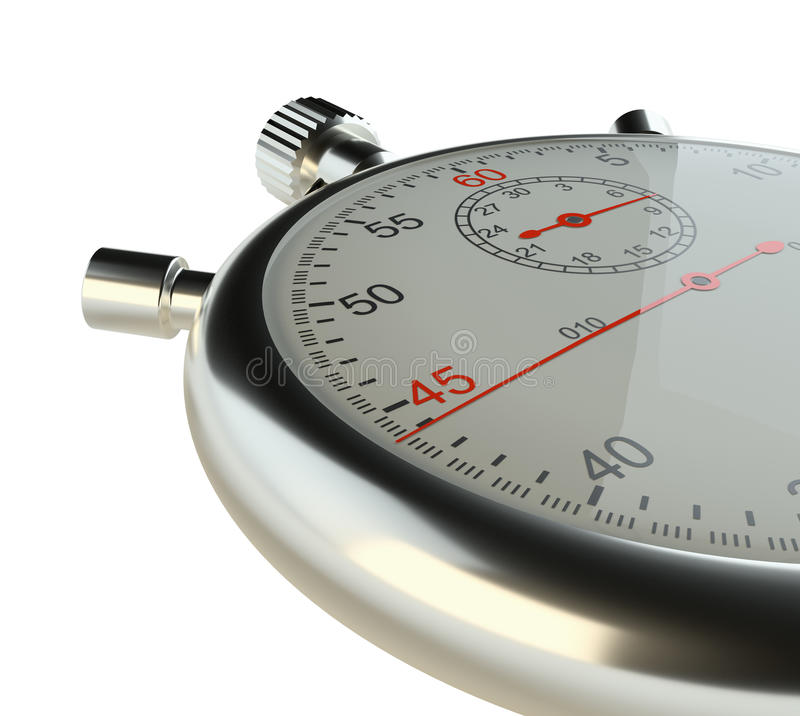 Cronómetro Aislado en blanco libre illustration
