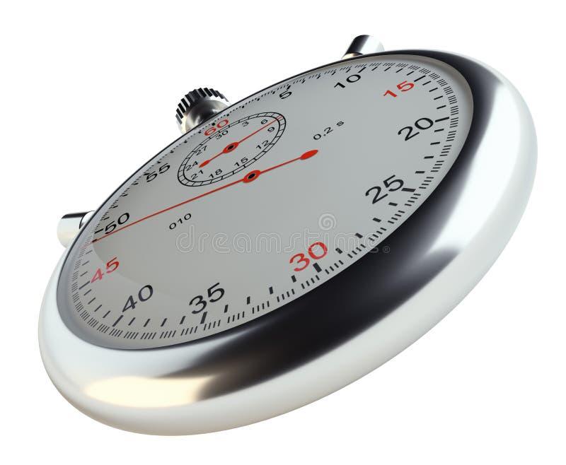 Cronómetro Aislado en blanco stock de ilustración