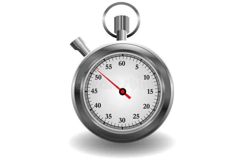 Cronómetro clásico realista aislado en blanco ilustración del vector