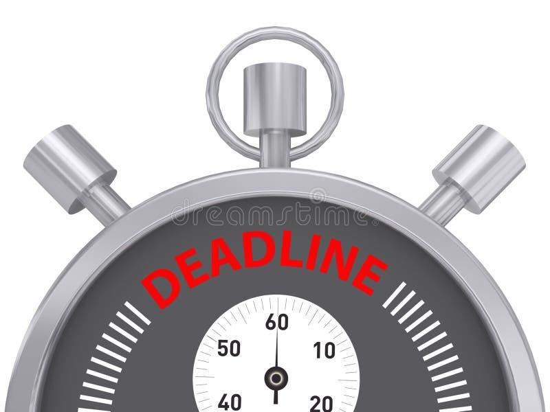Cronómetro del plazo imagen de archivo