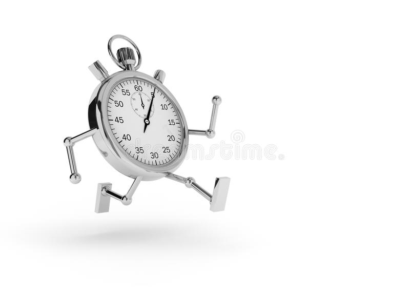 Cronómetro que funciona ilustração stock