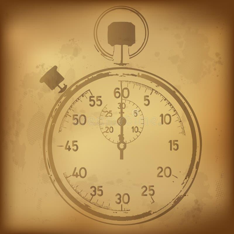 Cronômetro antigo ilustração do vetor