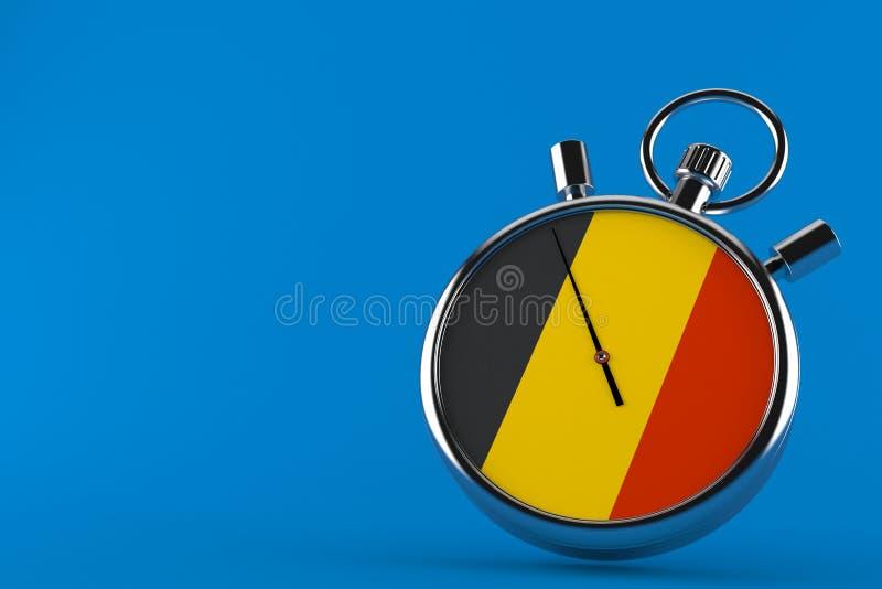 Cronômetro com bandeira belga ilustração royalty free