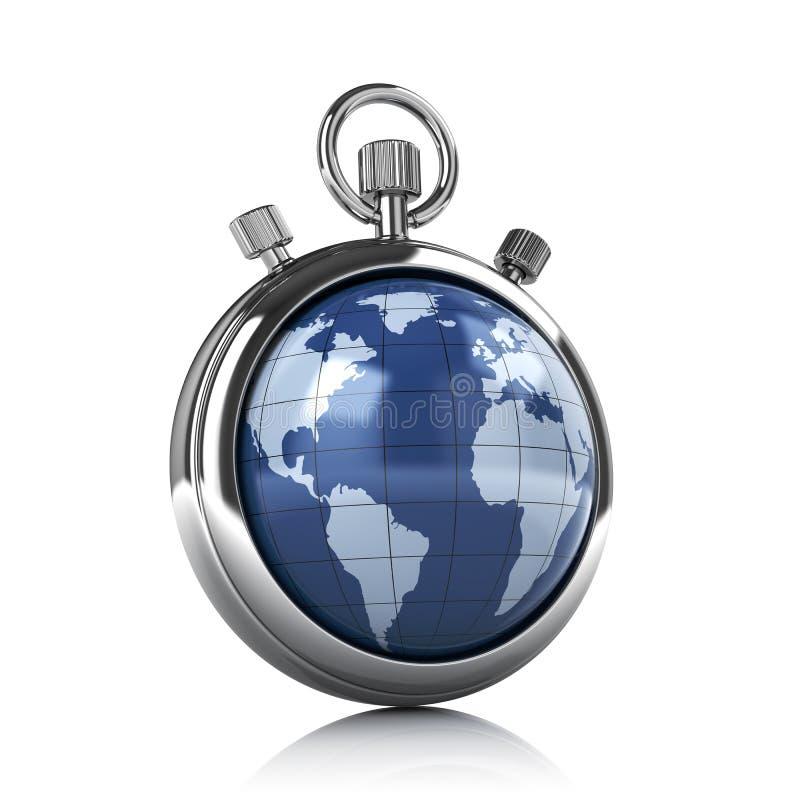 Cronômetro do mundo ilustração stock
