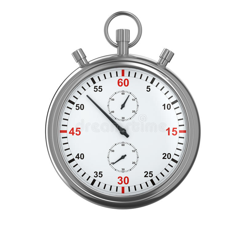 Cronômetro no fundo branco ilustração royalty free